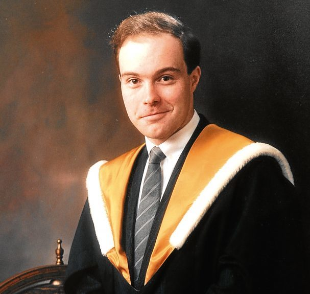 Alistair's graduation photo.