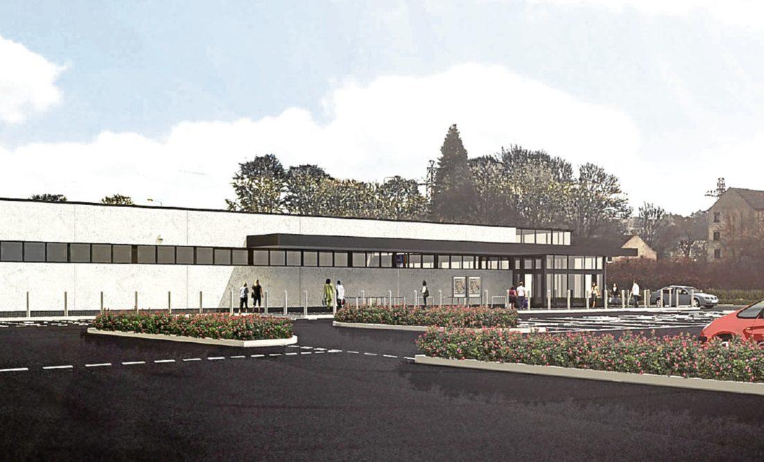 A CGI image of the new Aldi store