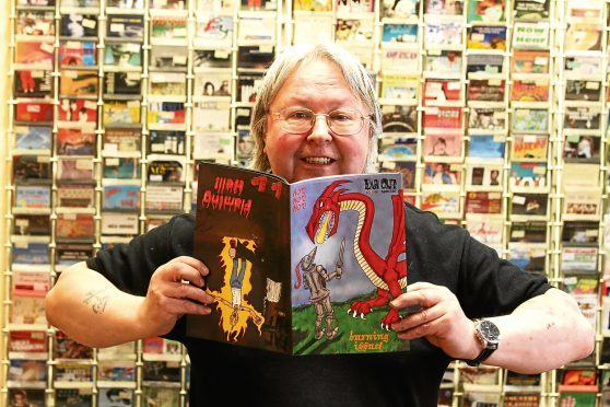 Comic book store owner George Cordeiro, who is preparing to shut up shop.