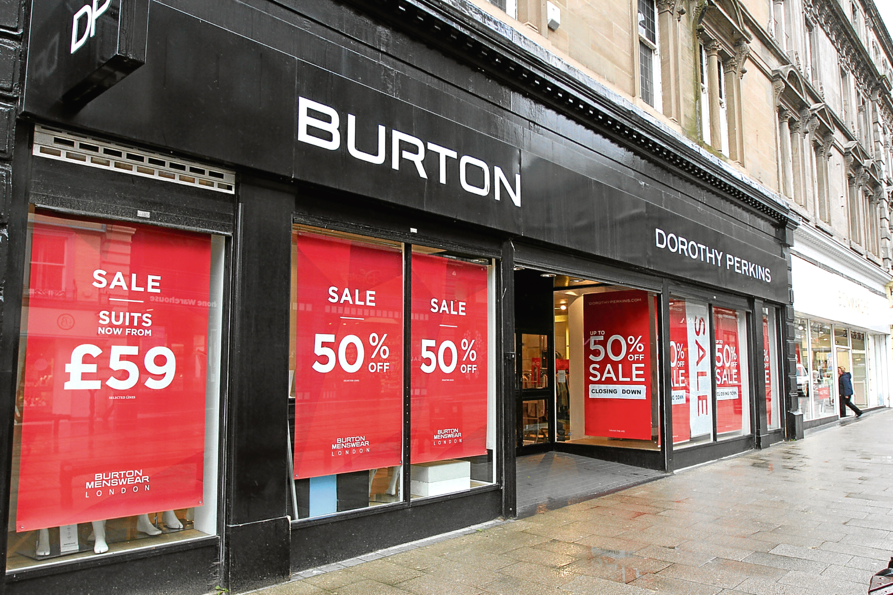 The Burton and Dorothy Perkins stores in the Murraygate.