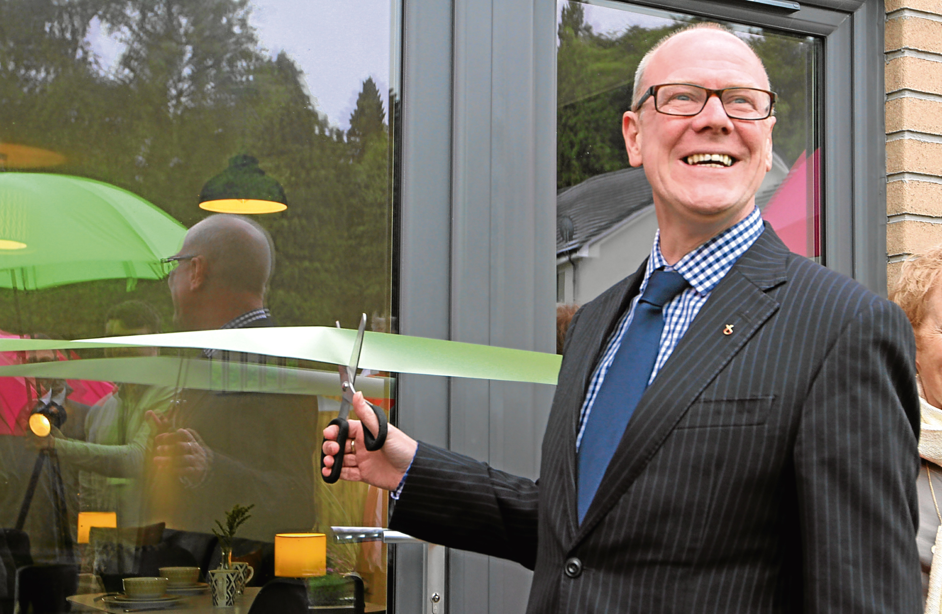 Minister of Local Government and Housing, Kevin Stewart, visited the newly developed homes