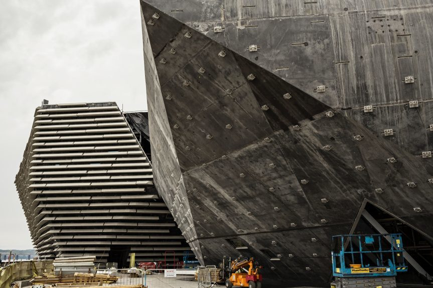 The V&A Dundee's complex walls. Picture: Ross Fraser McLean