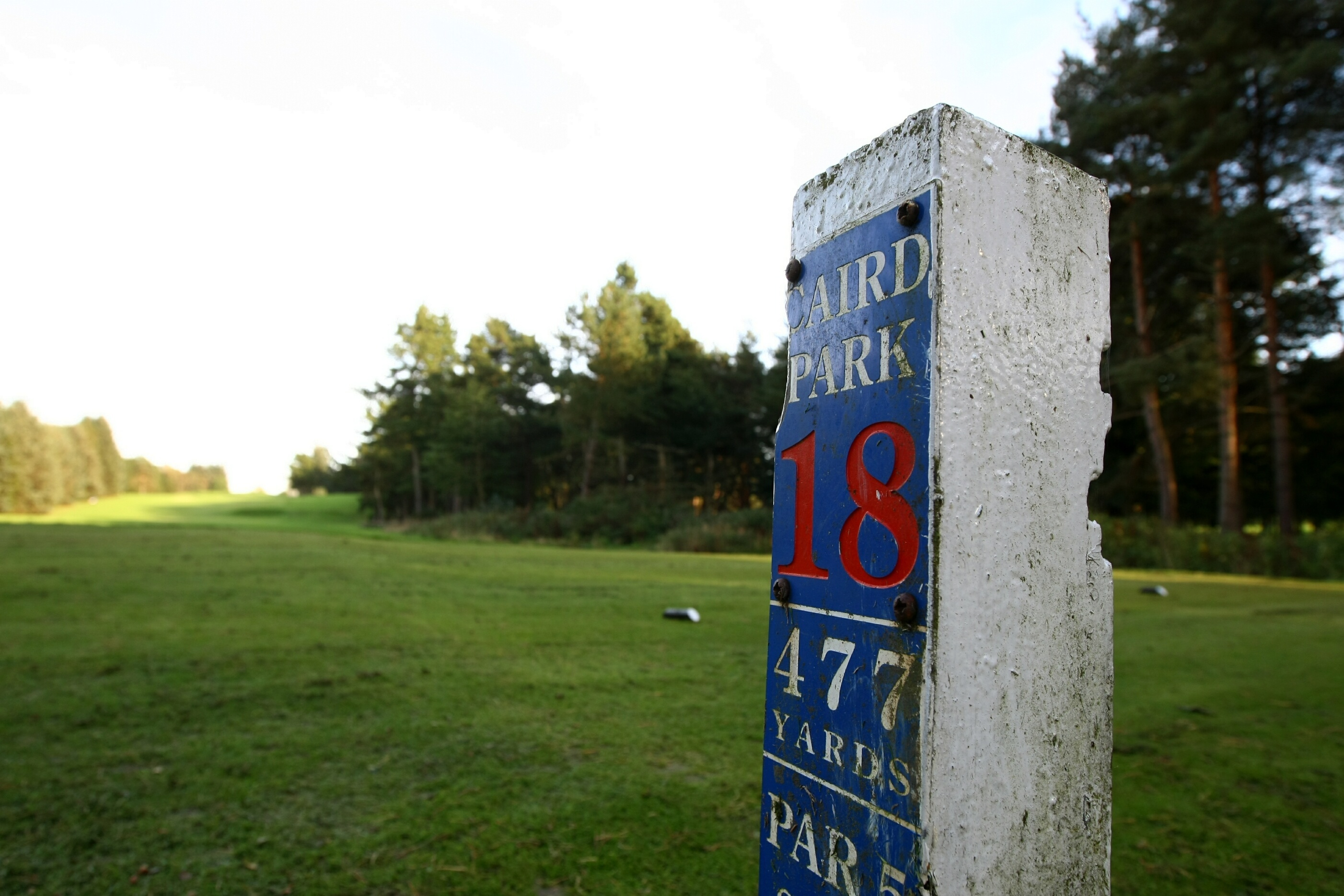 The 18th tee at Caird Park