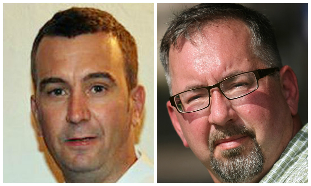 David Haines and, right, his older brother Mike