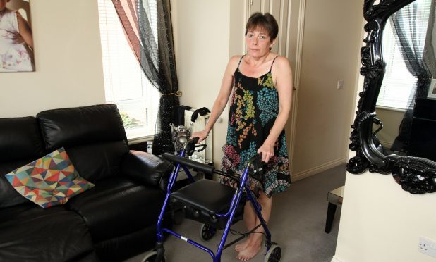 Jackie Gordon, who suffers from a severe breathing condition, no longer feels safe in her Ardler home.
