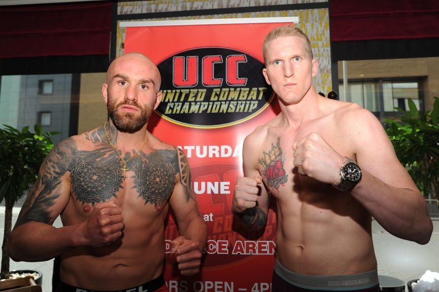 Kickboxer Marc Navarro Mikael Brilling ahead of their big fight.
