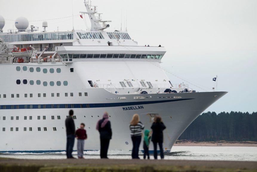 The Magellan cruise ship calling into Dundee port.