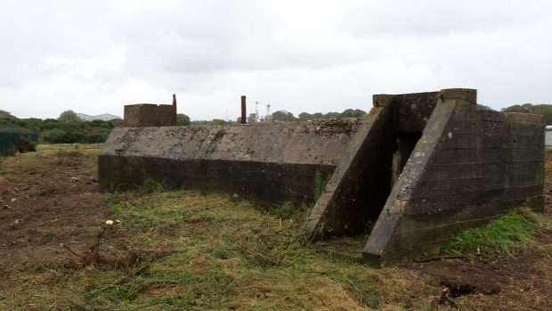 The discovered  Second World War bunker