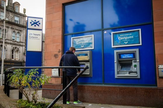 The Bank of Scotland branch on Marketgait.