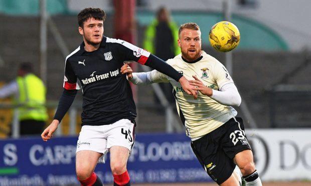Daniel Higgins in action for Dundee last season