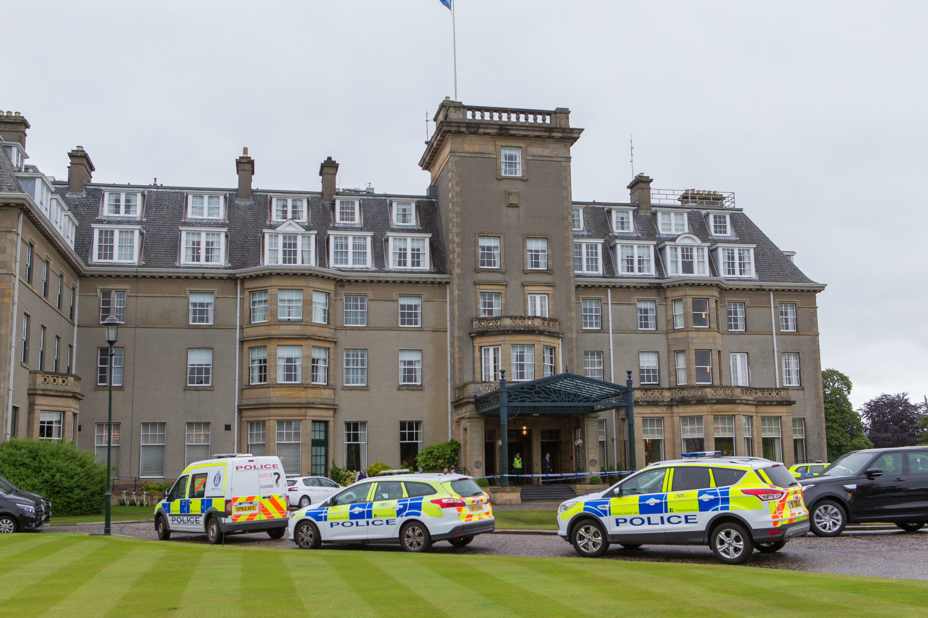 Police outside the Gleneagles hotel