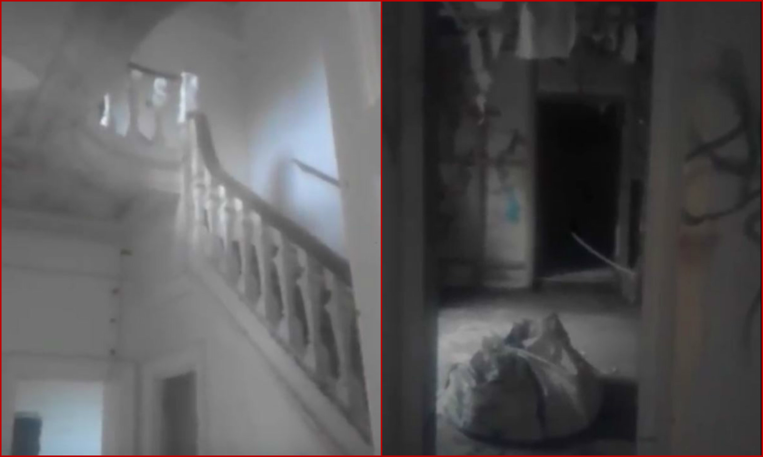 Stills from inside the notorious house.