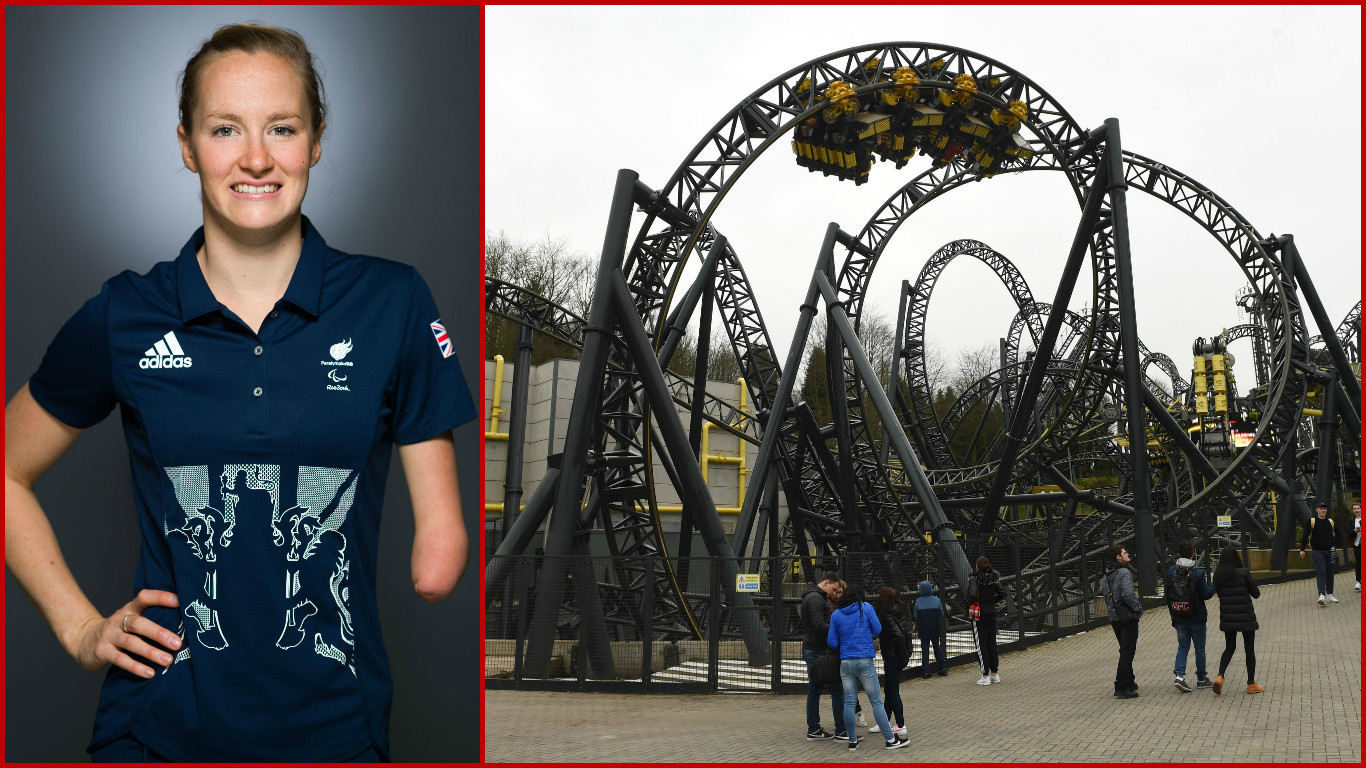 Paralympian Claire Cashmore was told she could not ride on the Smiler - because she has one arm.