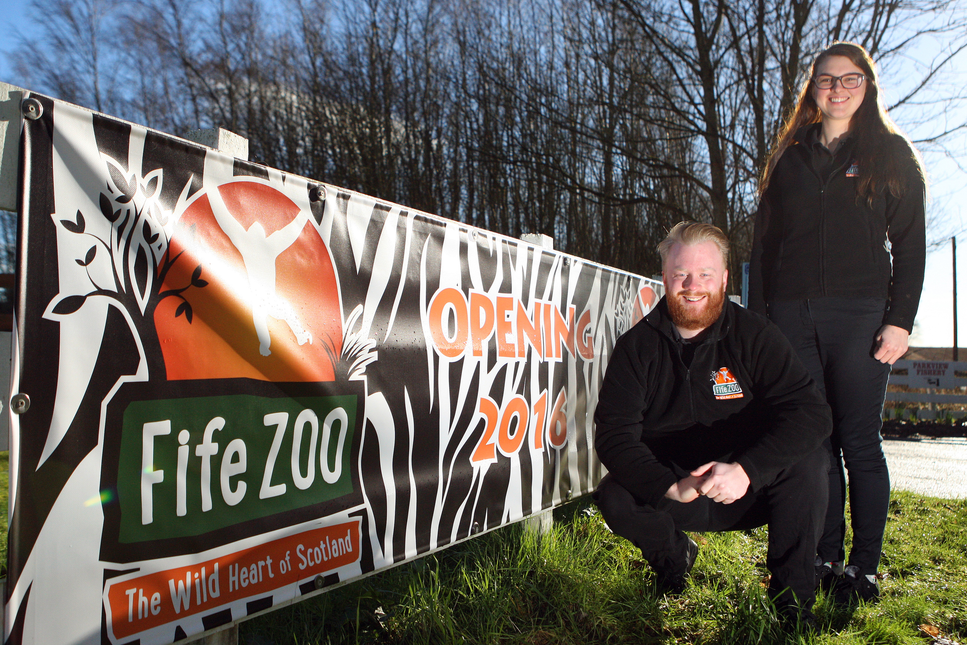 Briony Taylor and Michael Knight, owners of Fife Zoo