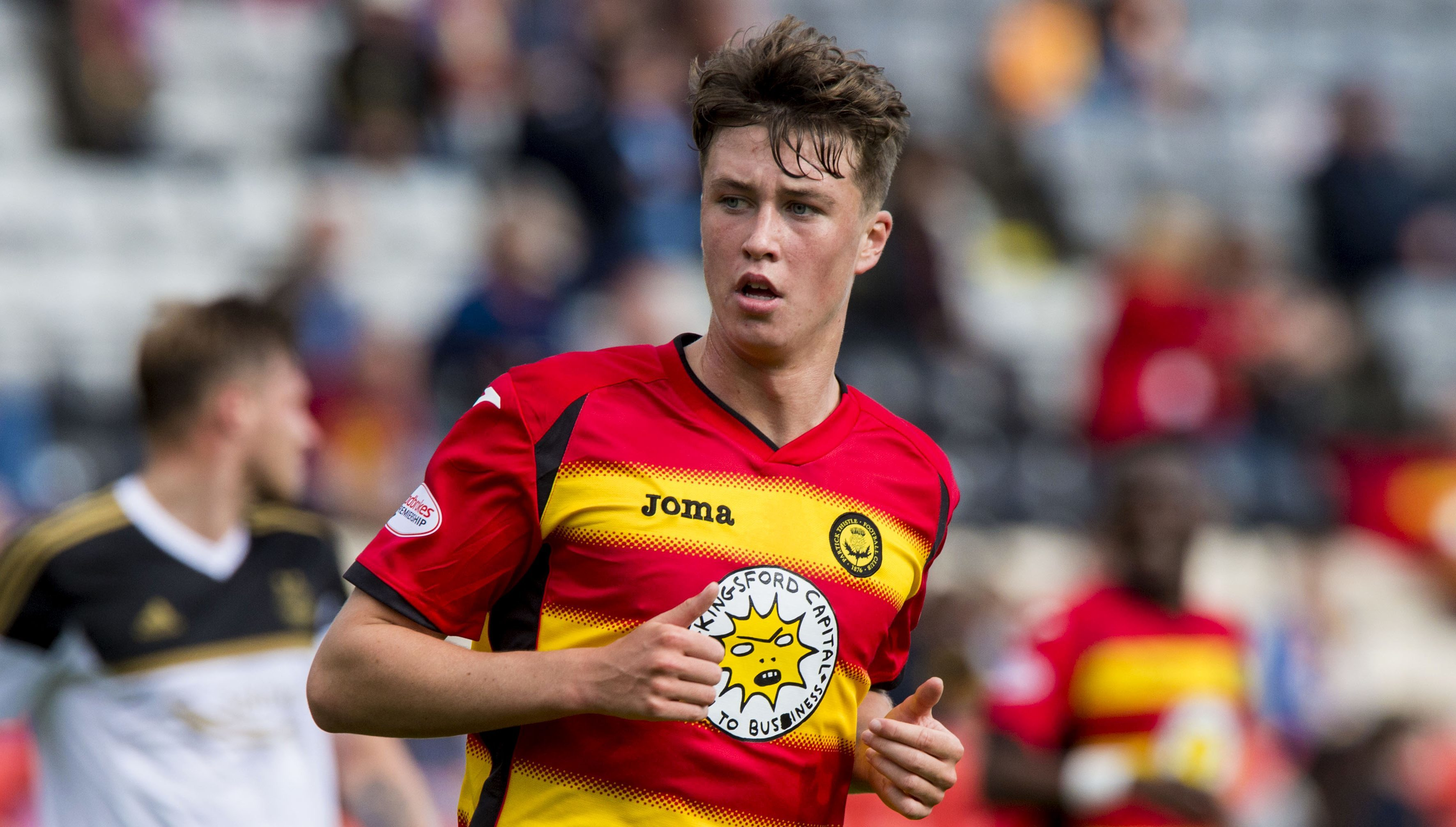 Jack Hendry in action for Partick Thistle in 2015