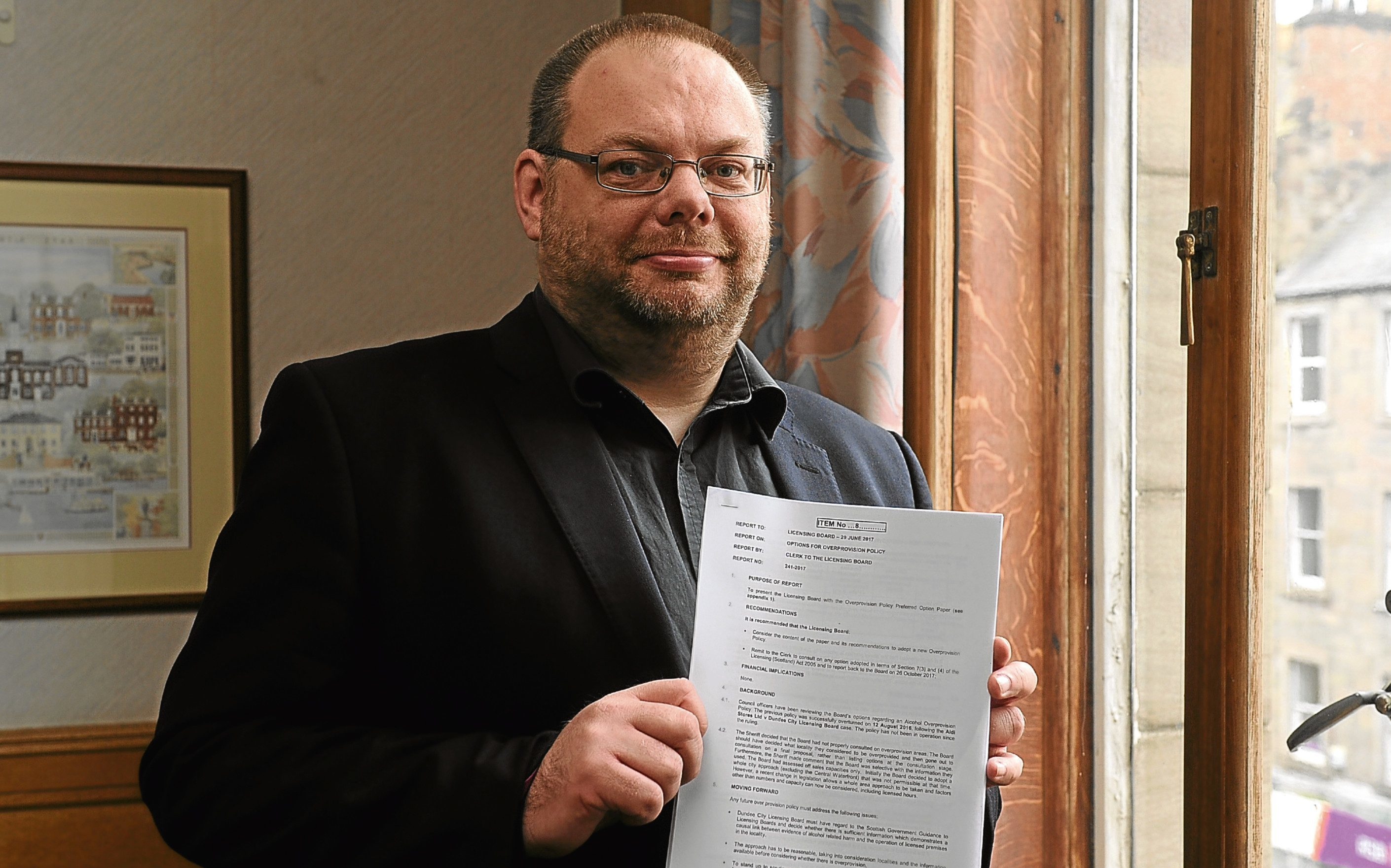 Councillor Stewart Hunter, the new convener of Dundee's licensing board, has backed a new policy limiting the granting of alcohol licences.