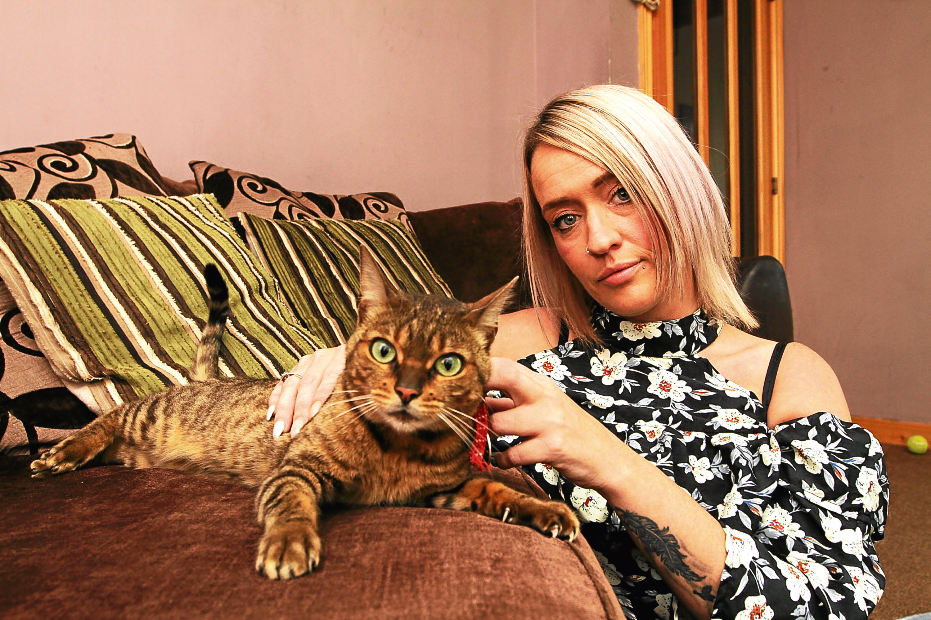 Carrie-Ann has hit out at the yobs who attacked her cat, Puss in Boots.