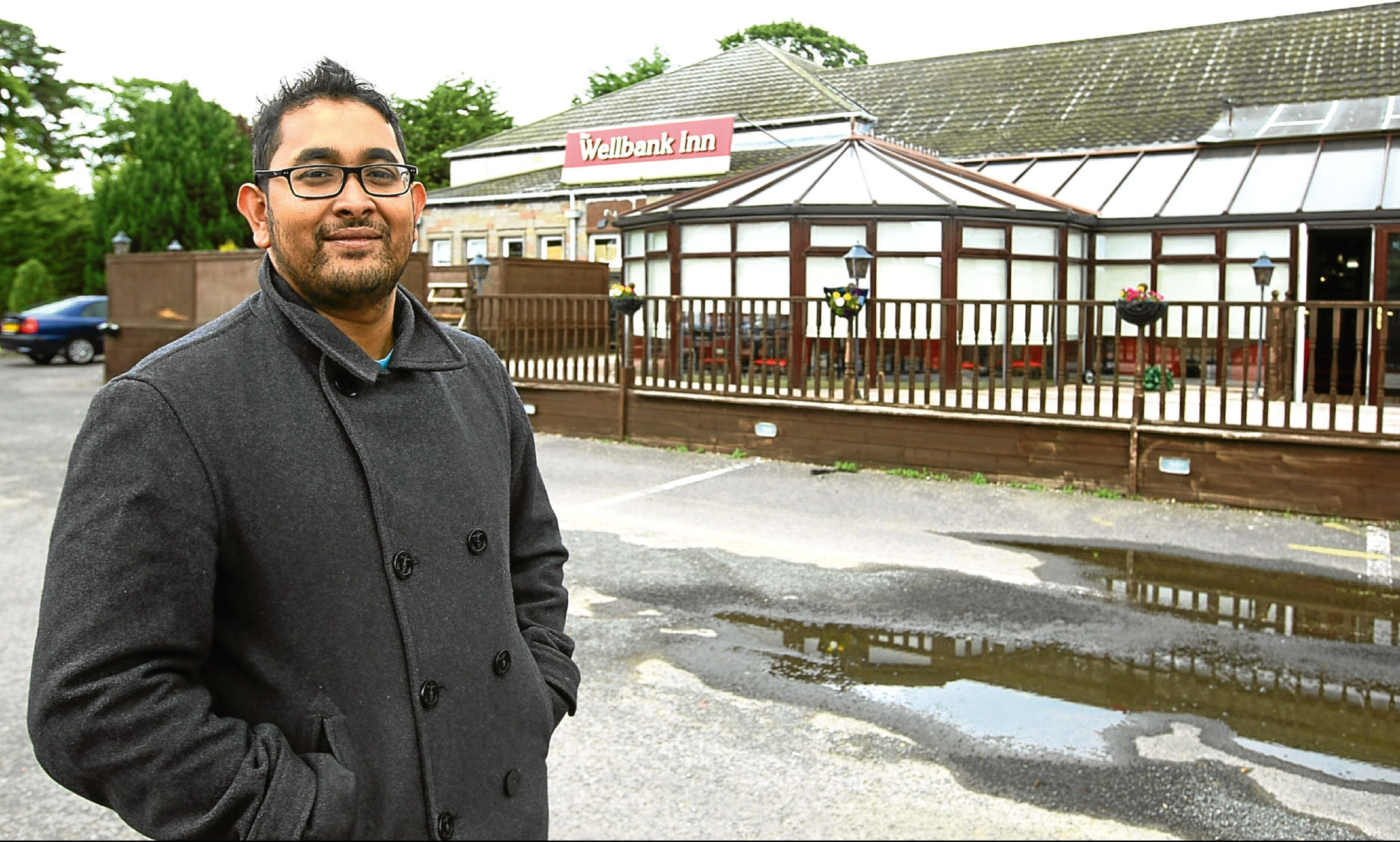 Sunny Mollah outside the former Wellbank Arms/Rancho Pancho in Wellbank, which he is to turn into Sunnies Bar & Grill
