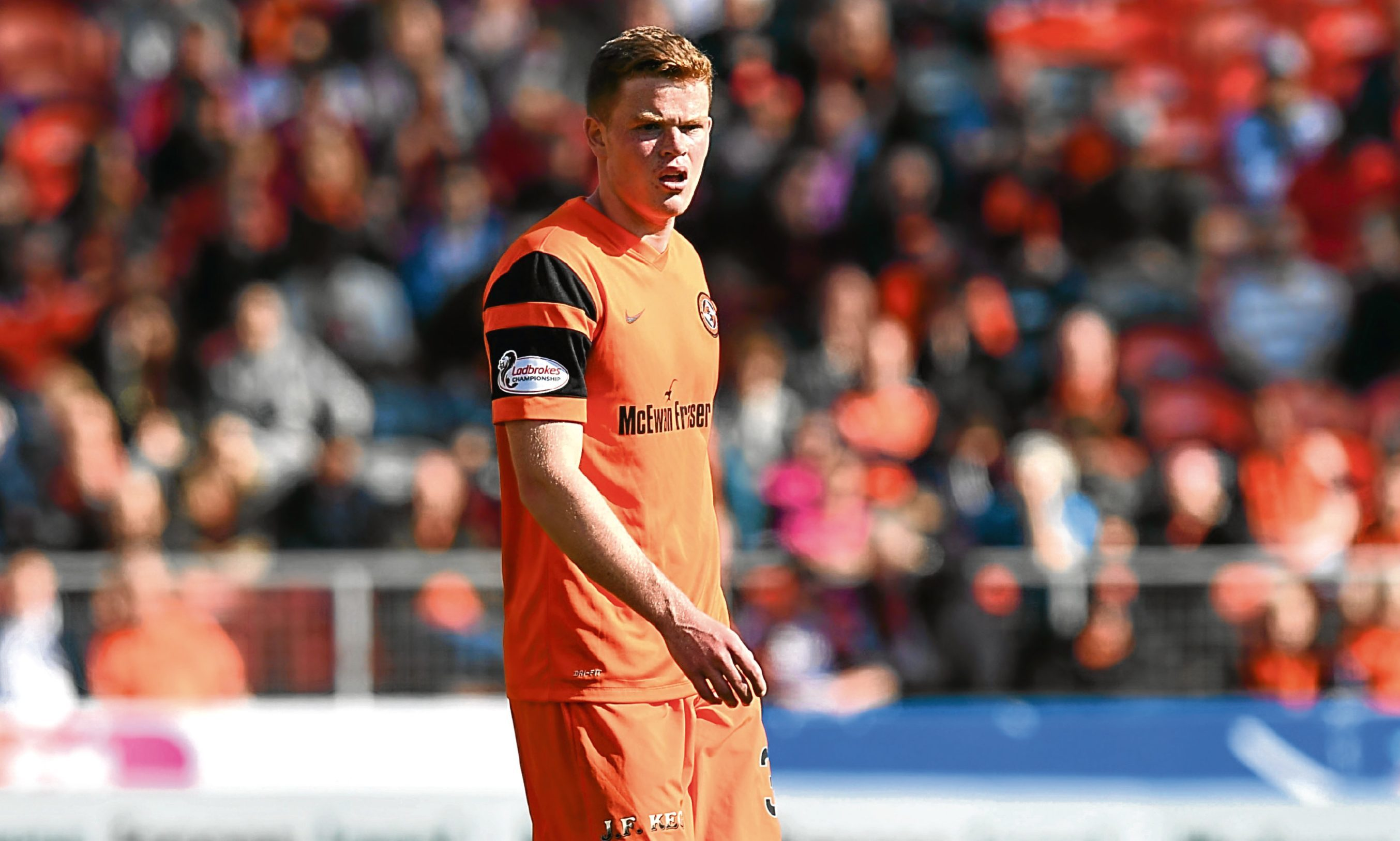 Dundee United midfielder Scott Allardice will be looking for a starting place on Saturday