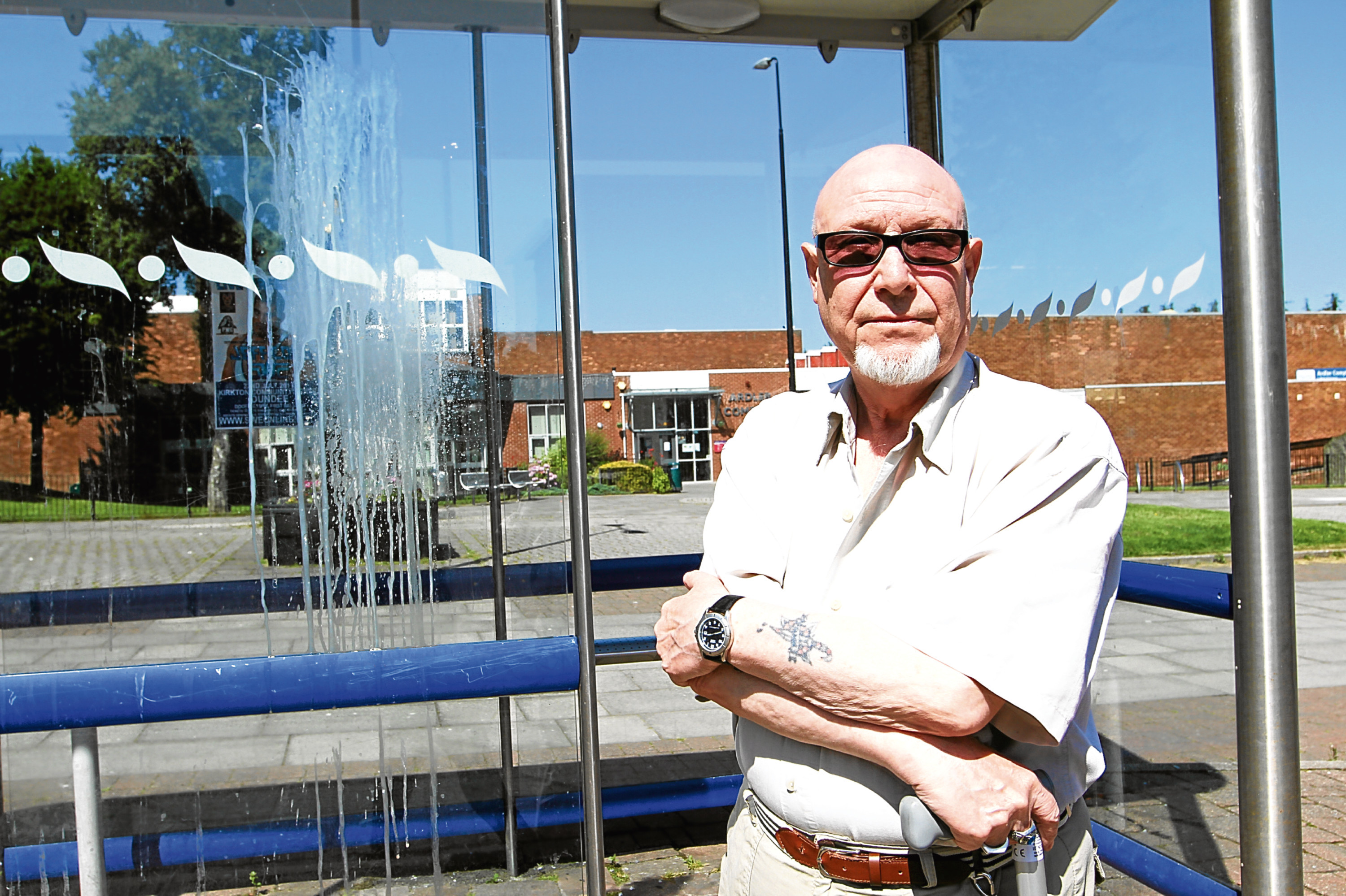 Ardler resident John Bisset called the police over youths who threw stones at homes and paint-bombed a bus shelter.