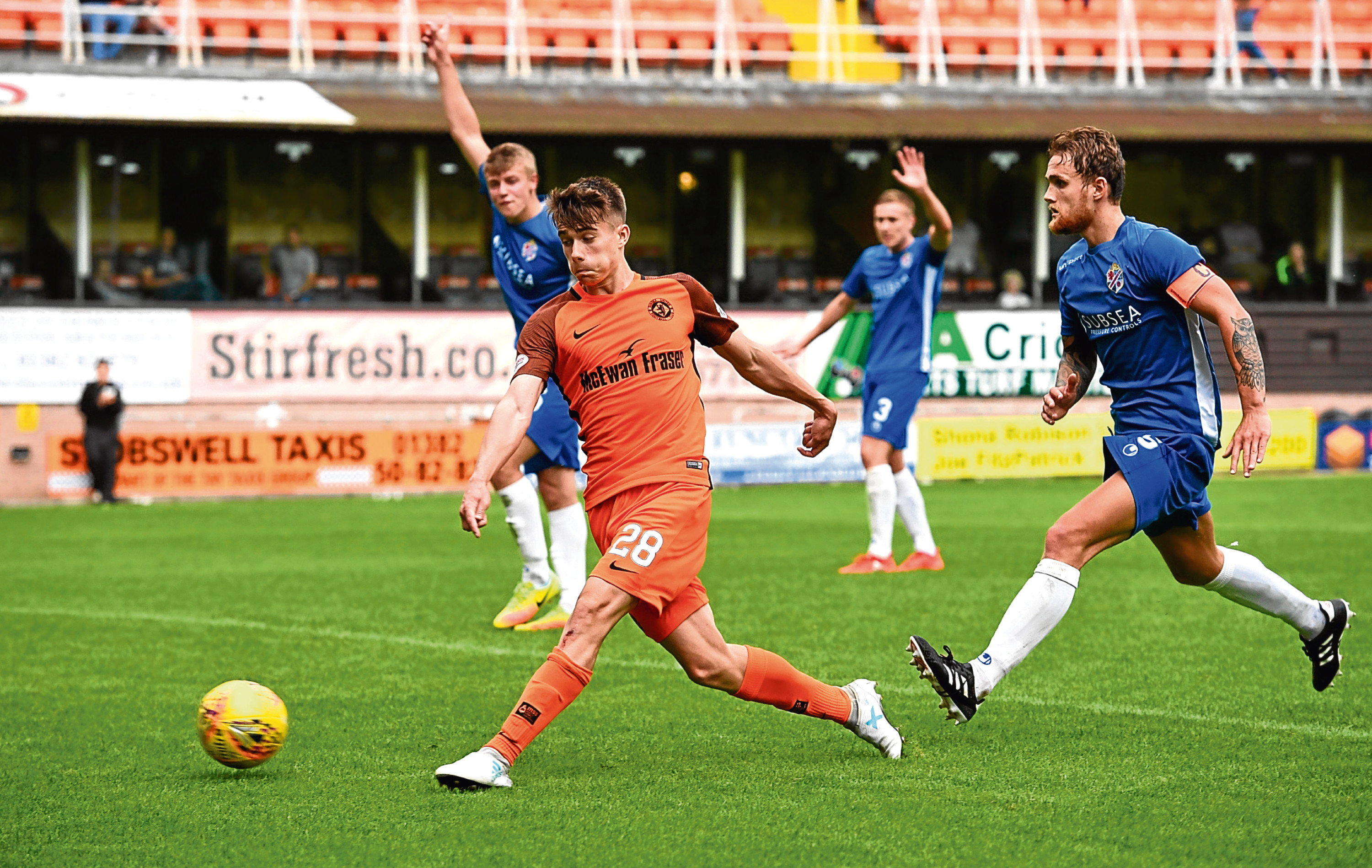 Matty Smith stepped up to lead the line for United, bagging the fourth and final goal against Cowdenbeath in the absence of first-choice strikers.