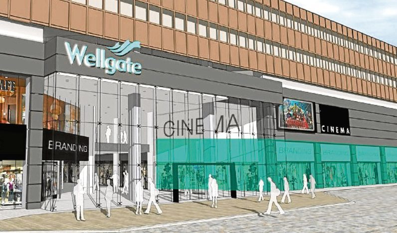An artist's impression of the proposed cinema plans for the Wellgate.