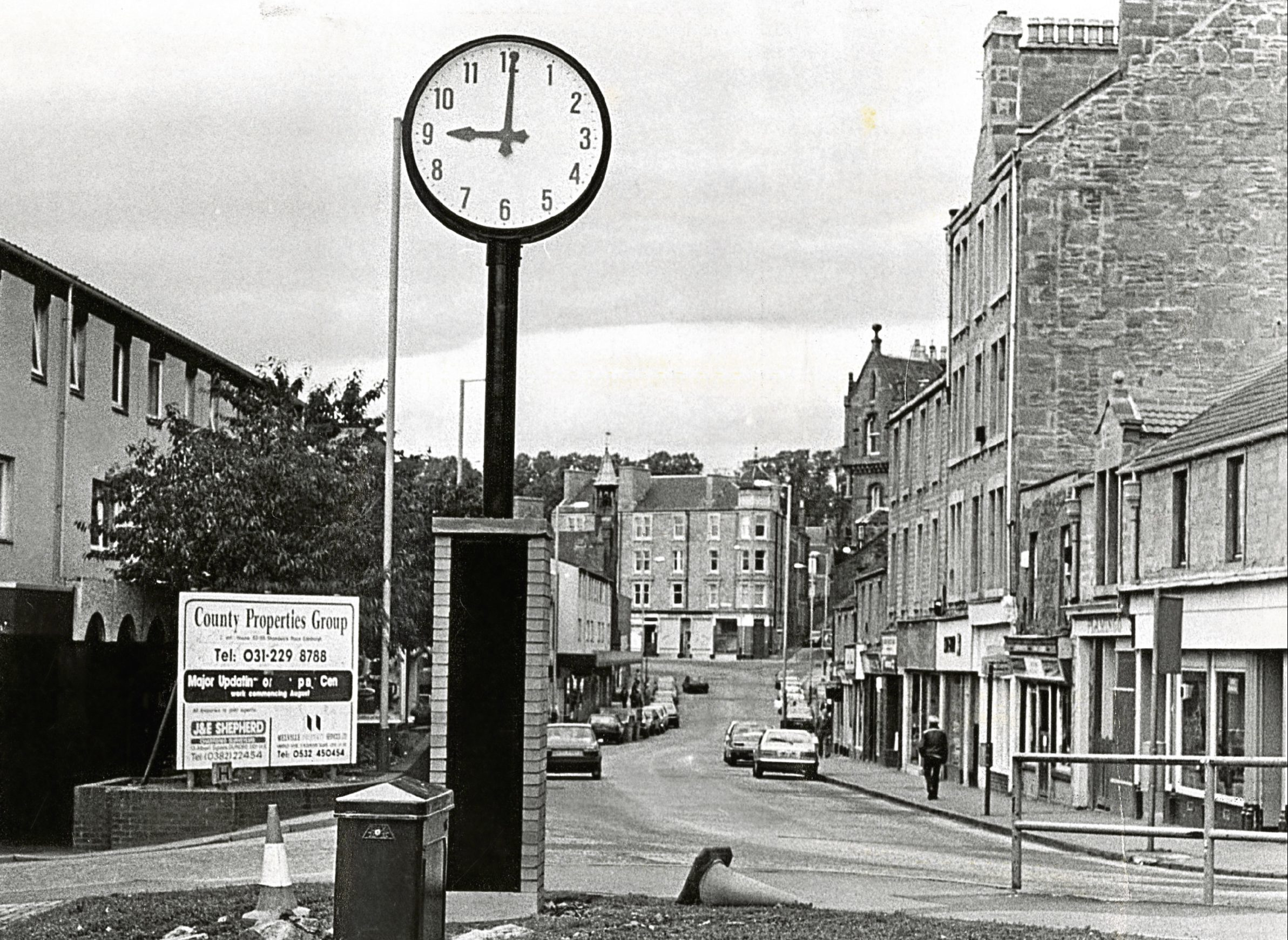 The clock which once stood on Lochee High Street.
