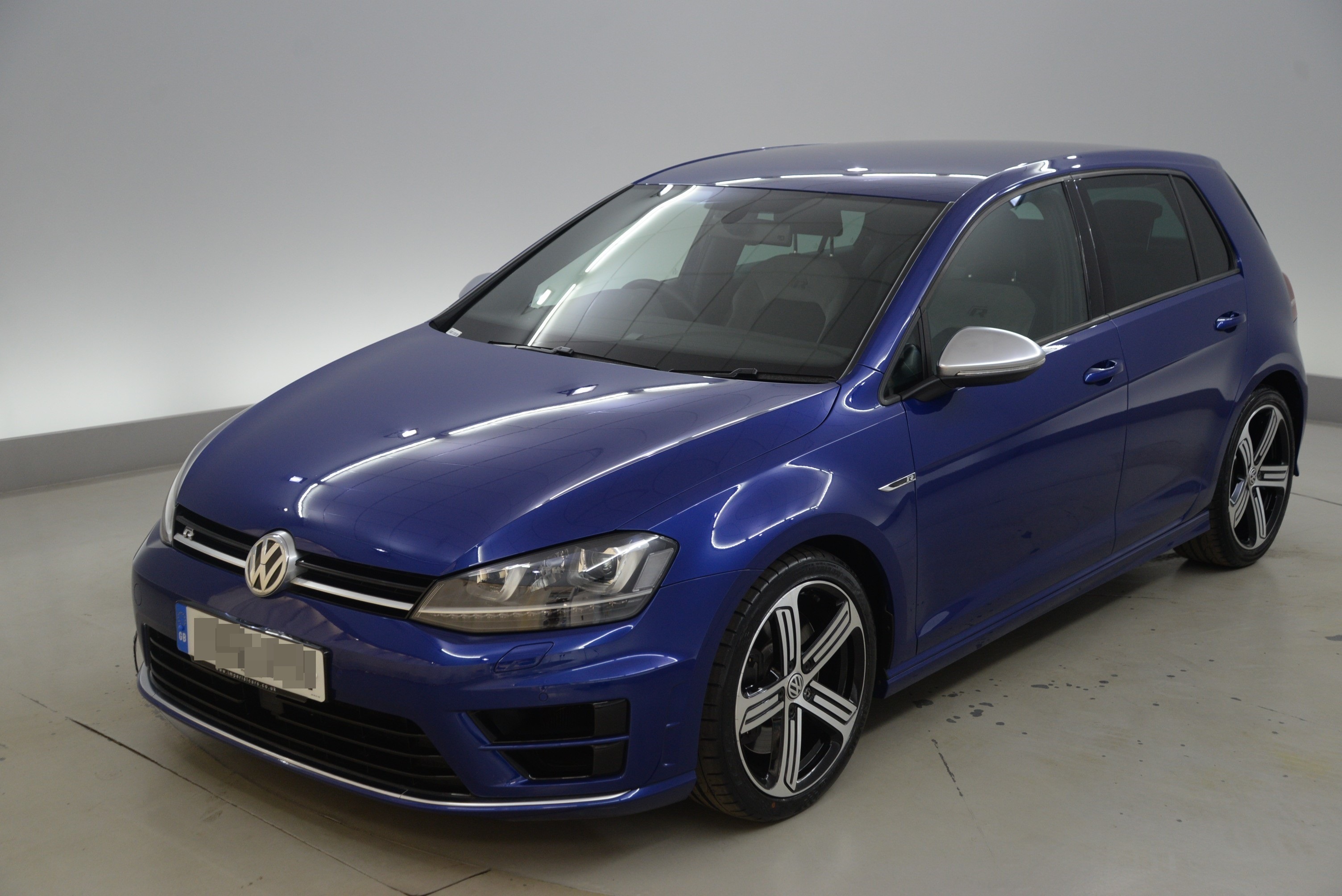 A blue Volkswagen Golf (library picture)