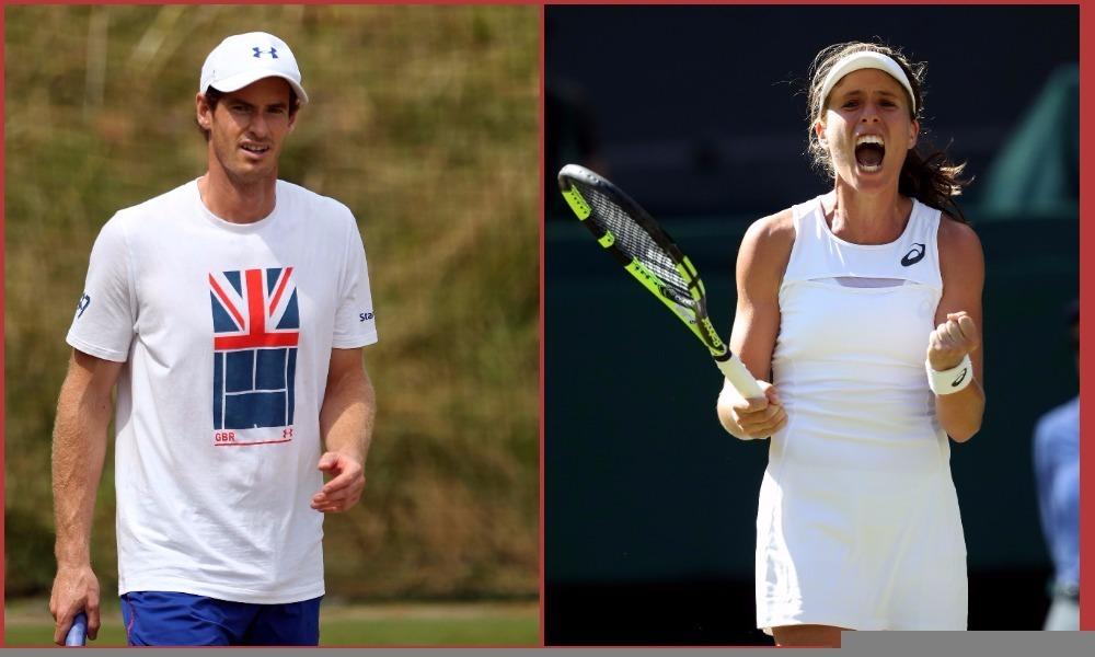 Andy Murray and Johanna Konta