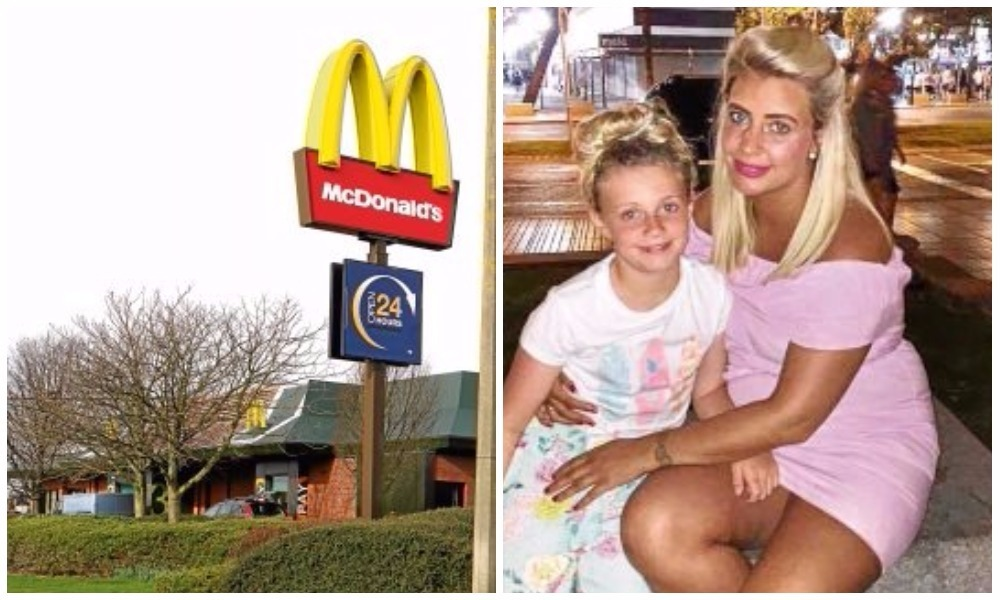 Daisy, pictured with her mum Kelly, after inhaling helium from a balloon in McDonald's