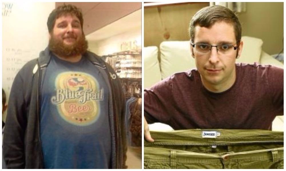 Matt Hooper before (left) and after