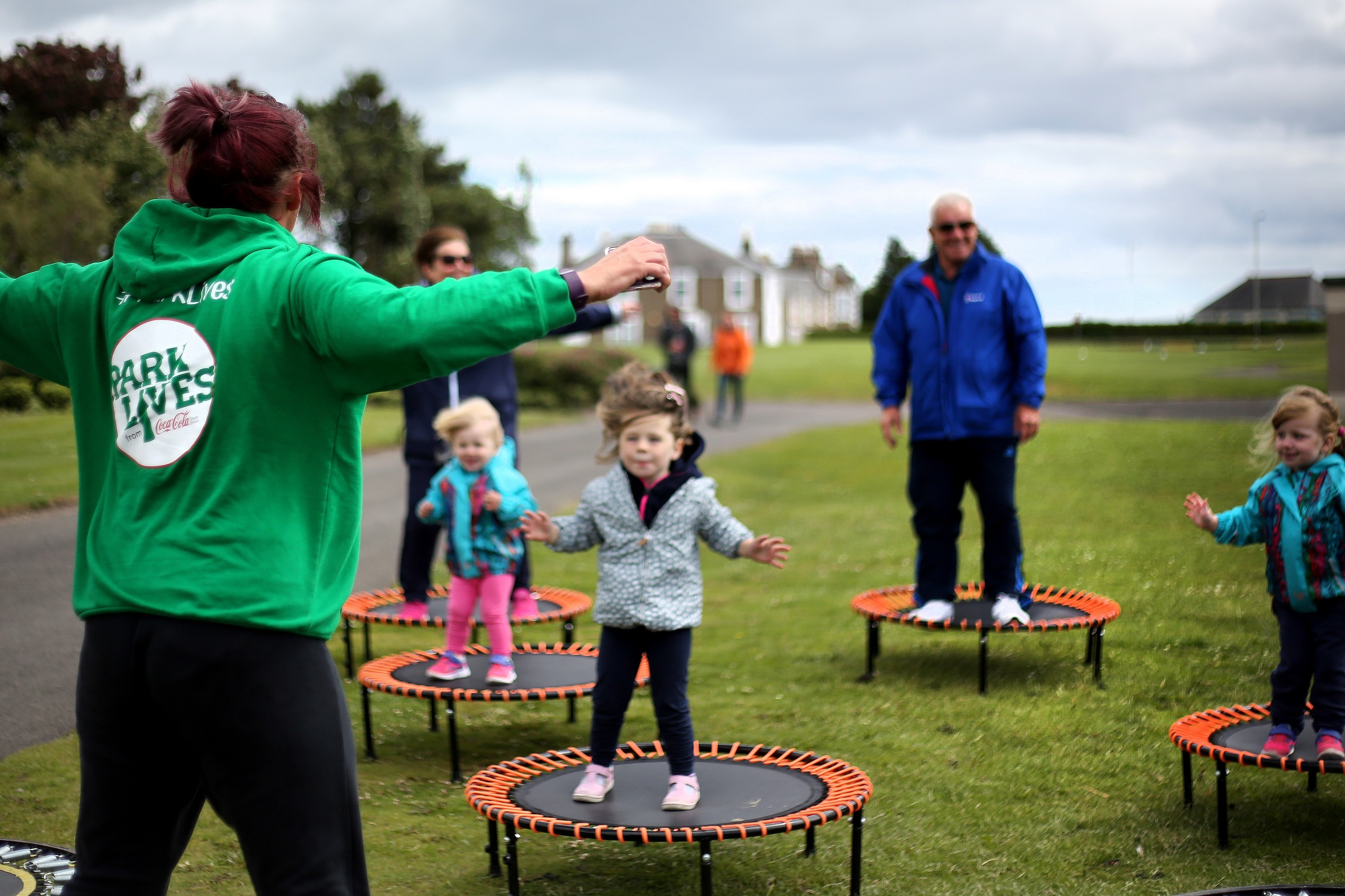 A ParkLives Dundee Bouncercise class in Castle Green
