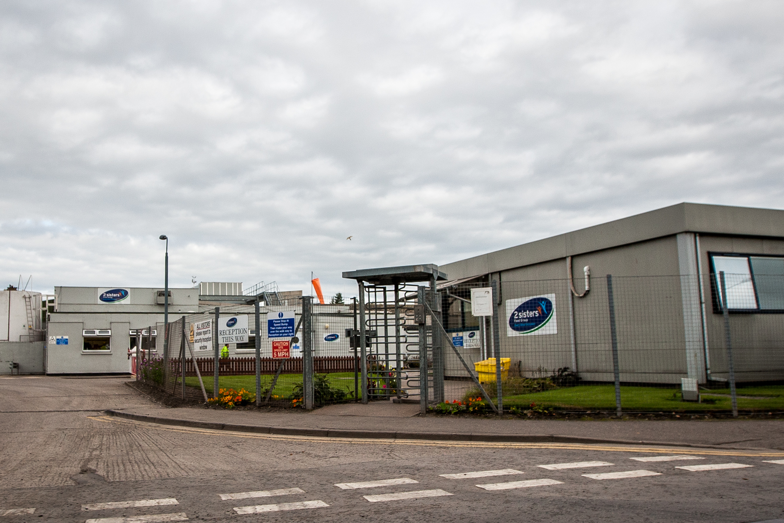 The entrance to the 2 Sisters Food Group site in Coupar Angus.