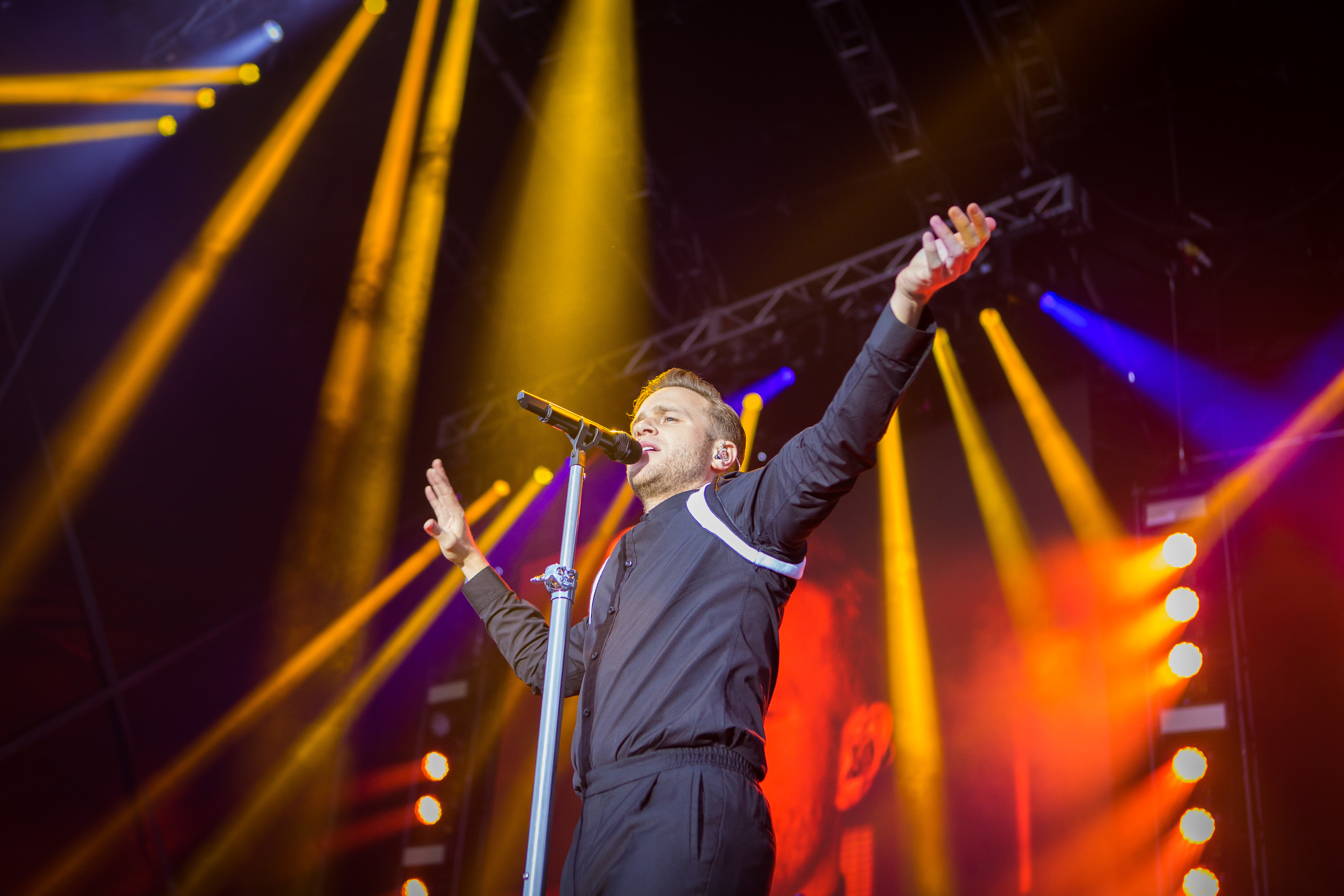 Olly Murs performs in Slessor Gardens