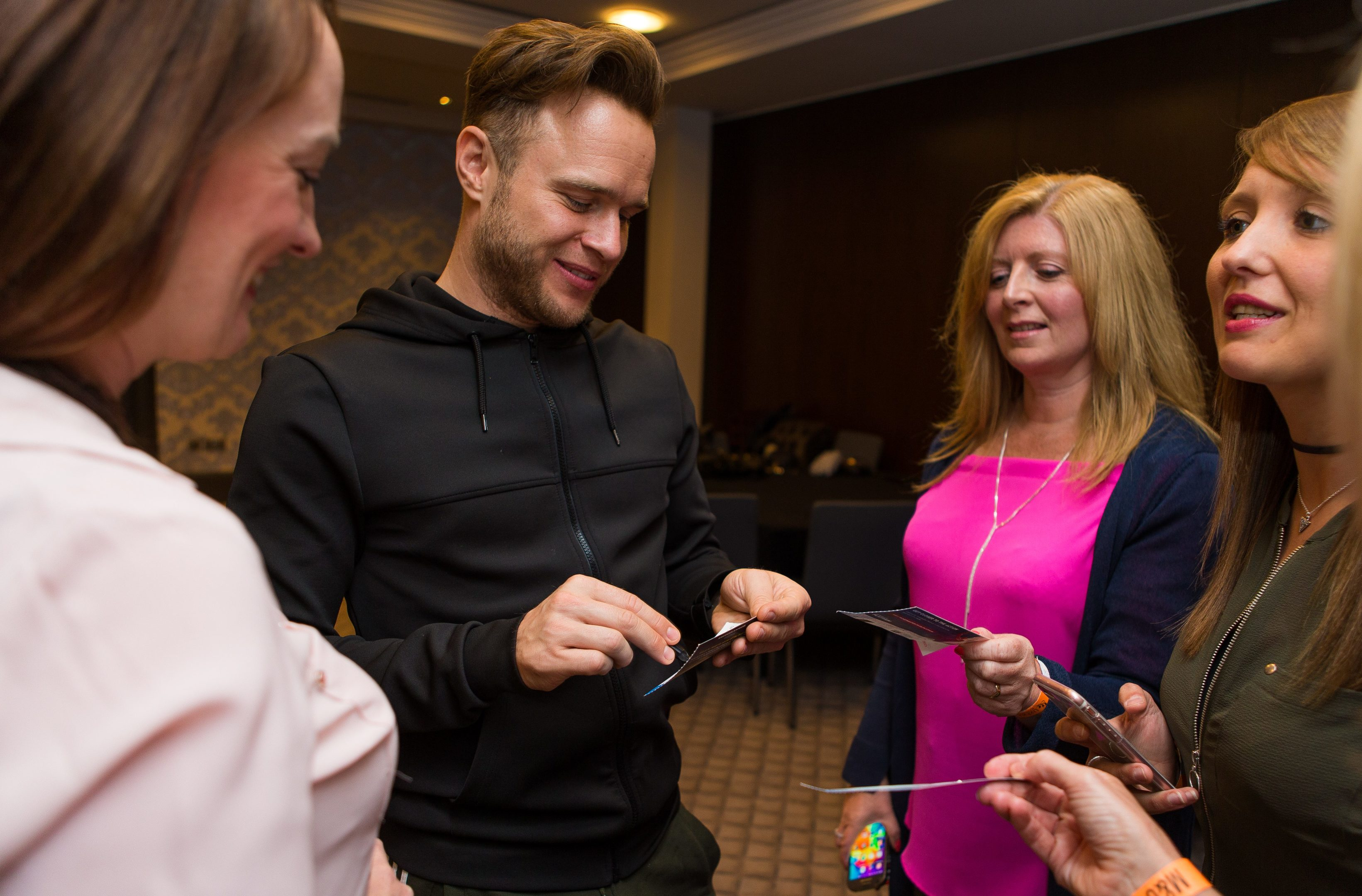 Olly meets competition winners at the Malmaison