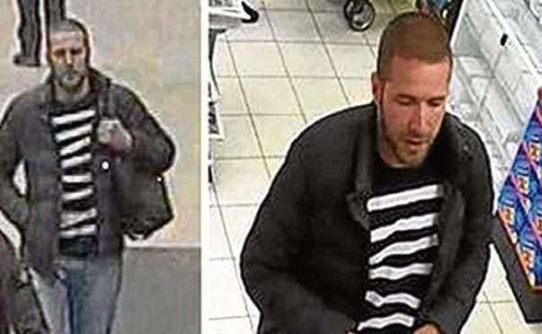 CCTV images of another suspect police are looking to speak to
