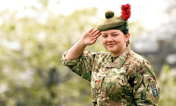 Megan Fletcher was the face of the Tele's Bald is Beautiful Campaign. She recently won an Army Cadet award at camp.