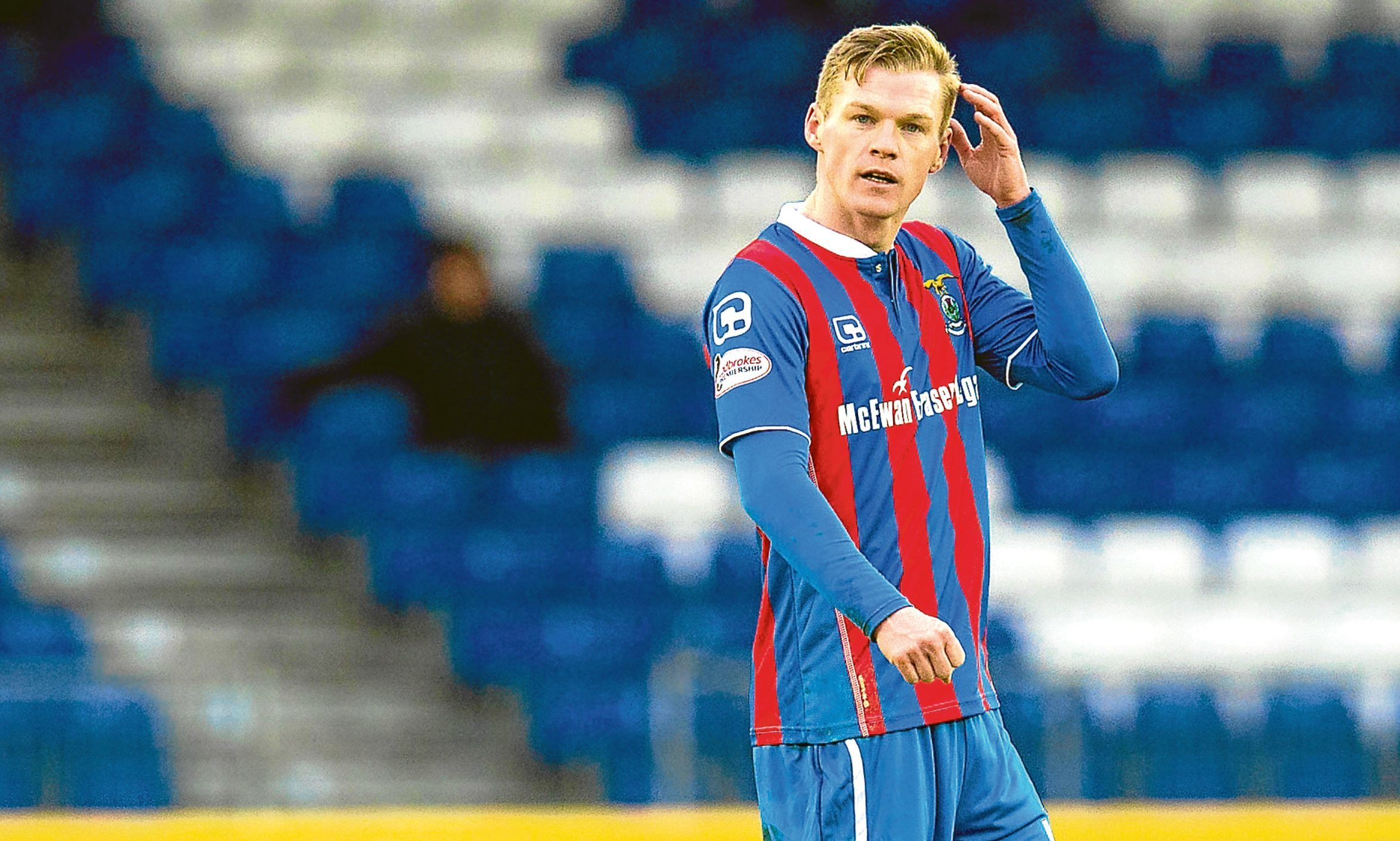 Billy Mckay in action for Inverness against Dundee
