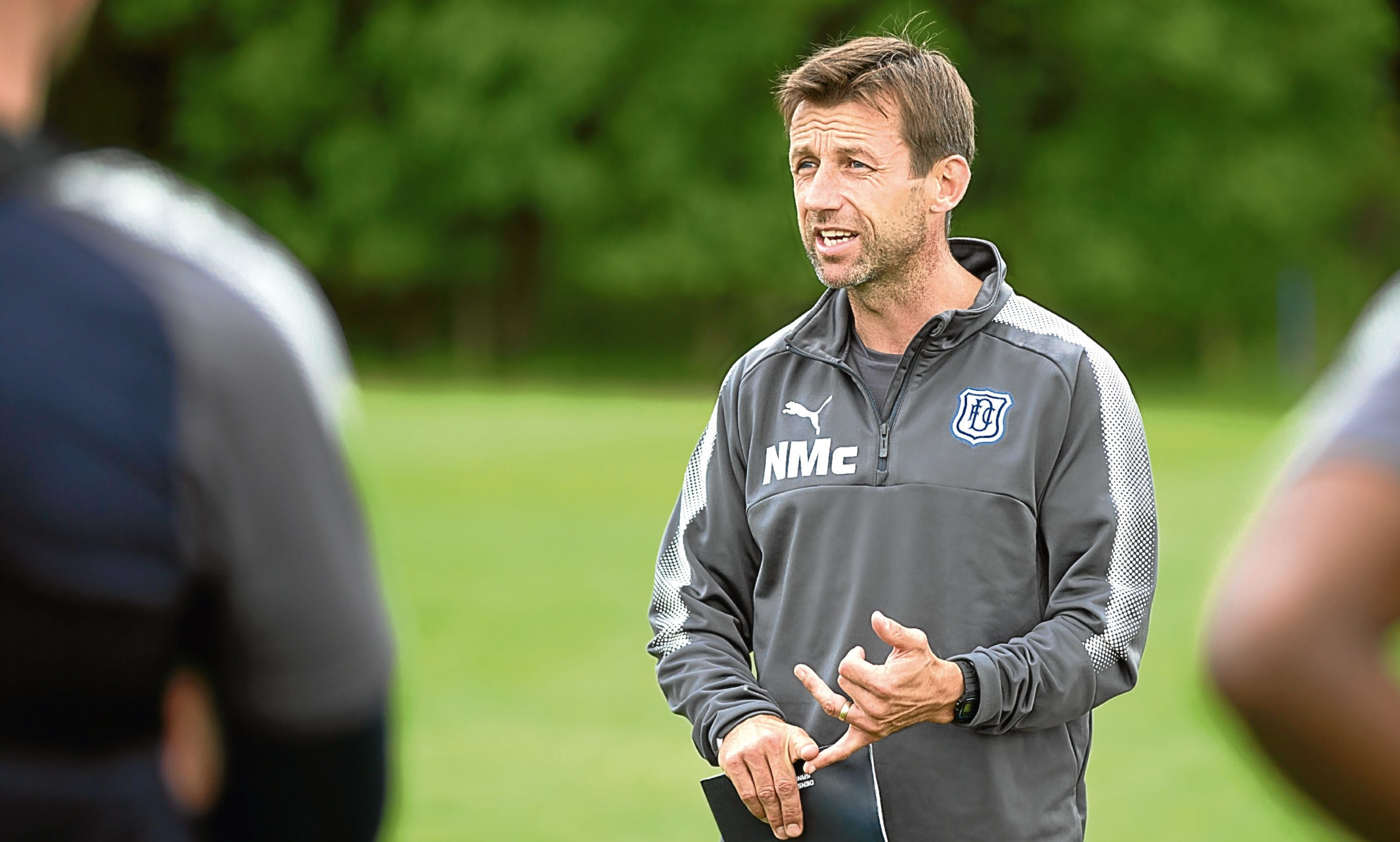 Dundee manager Neil McCann during Dundee FC training