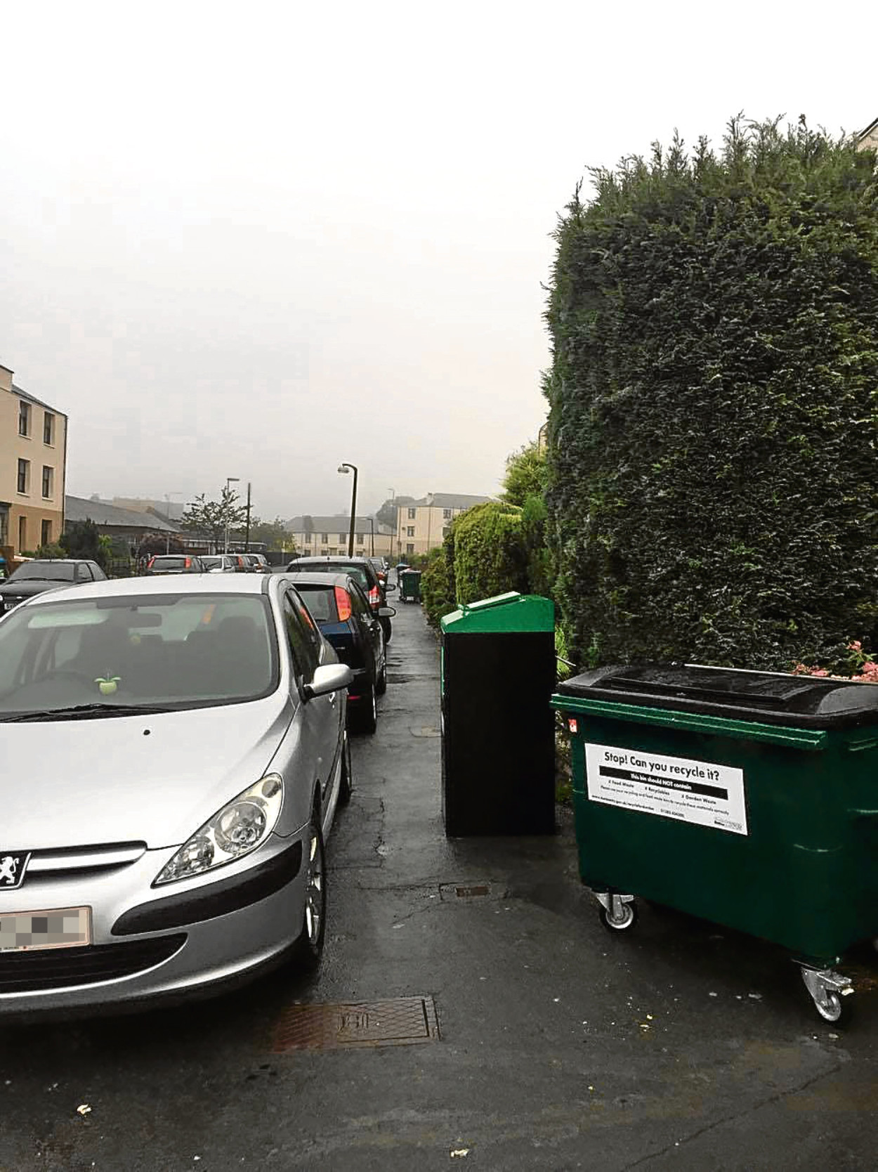 Bad parking on Marryat Street in August 2017