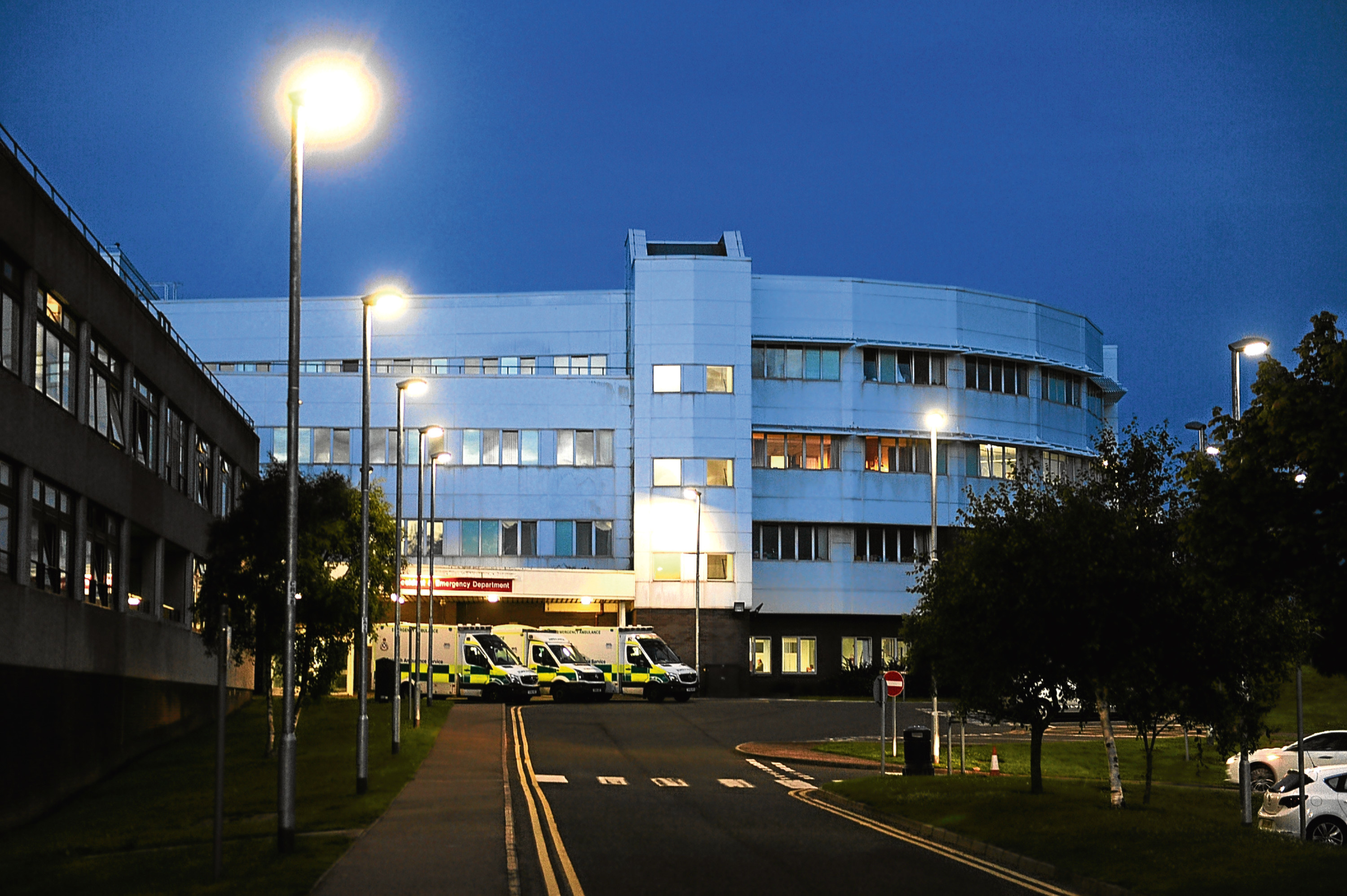 The A&E entrance at Ninewells Hospital