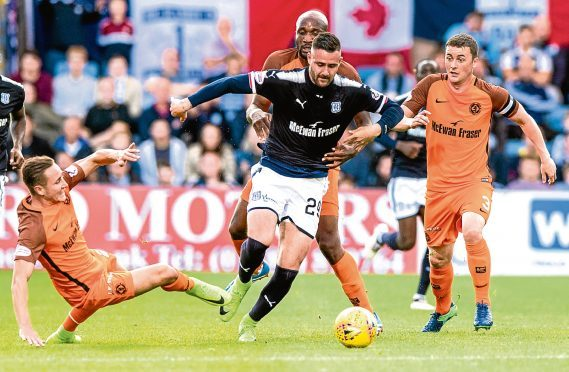 Dundee striker Marcus Haber had seemed to be frozen out at Dens Park but took his chance last night in the 2-1 win over Dundee United.