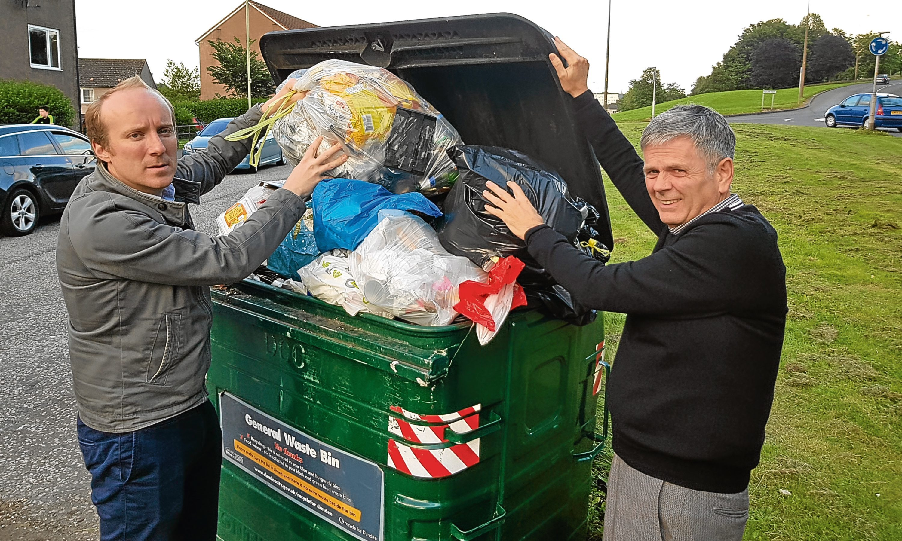 Michael Marra, left, and Charlie Malone in Lochee