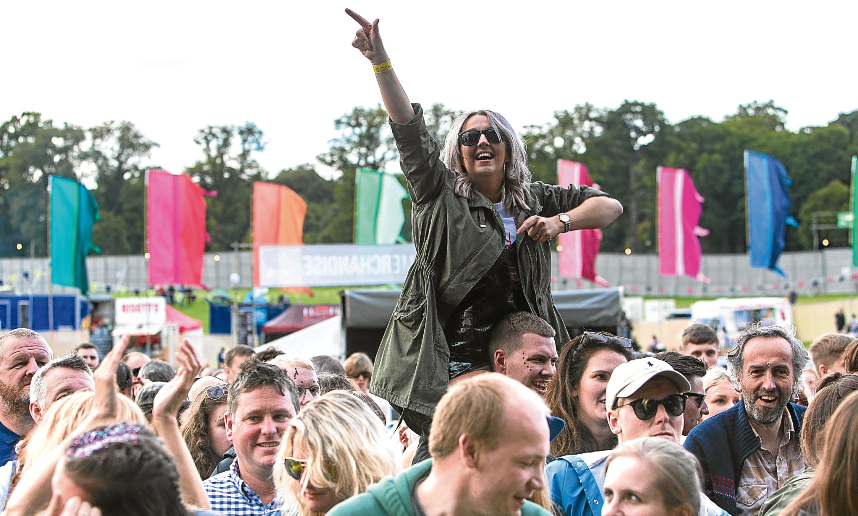 Fans enjoy The Charlatans at Carnival Fifty Six on Sunday