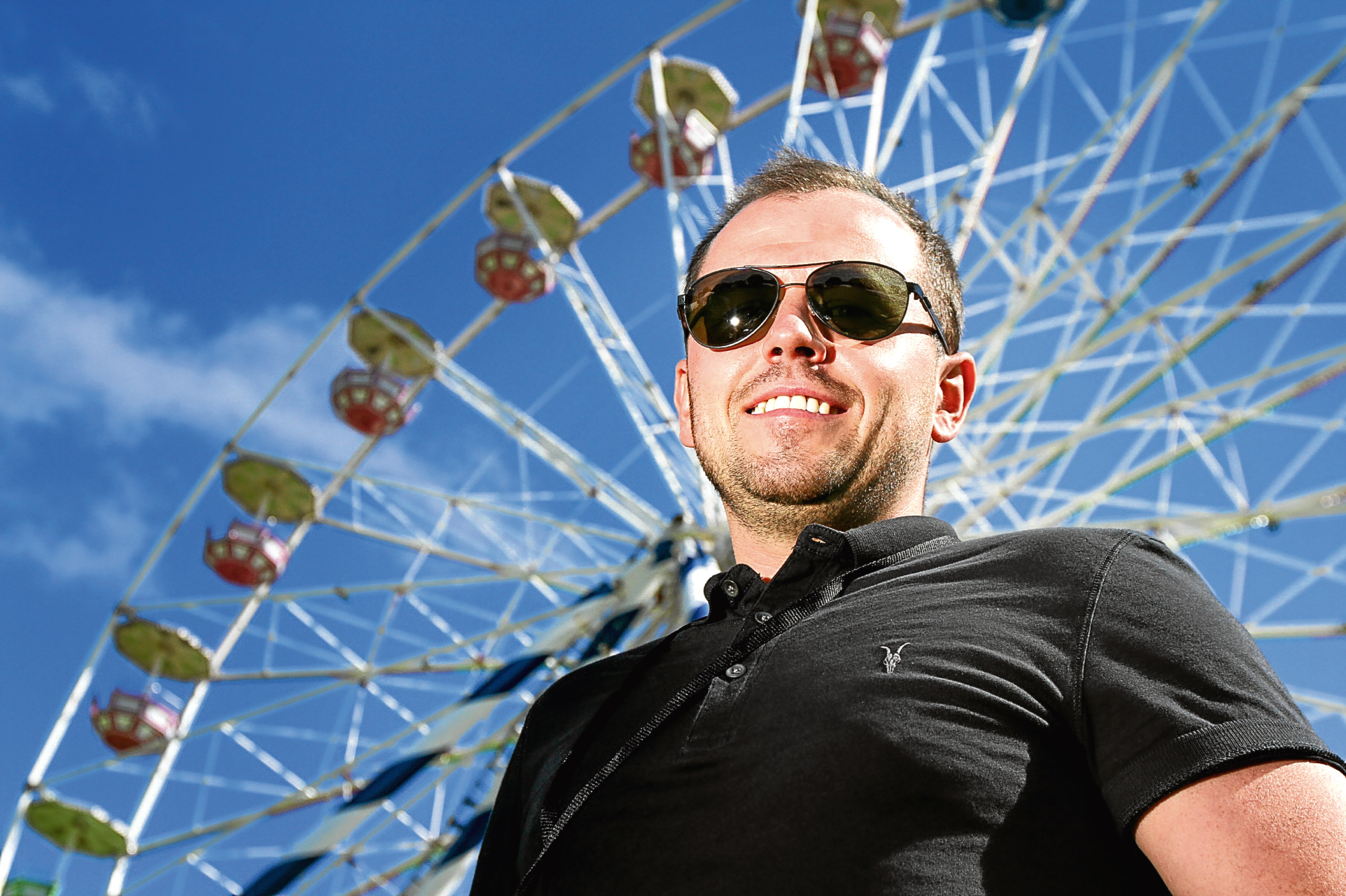Craig Blyth pictured at the Carnival Fifty Six site