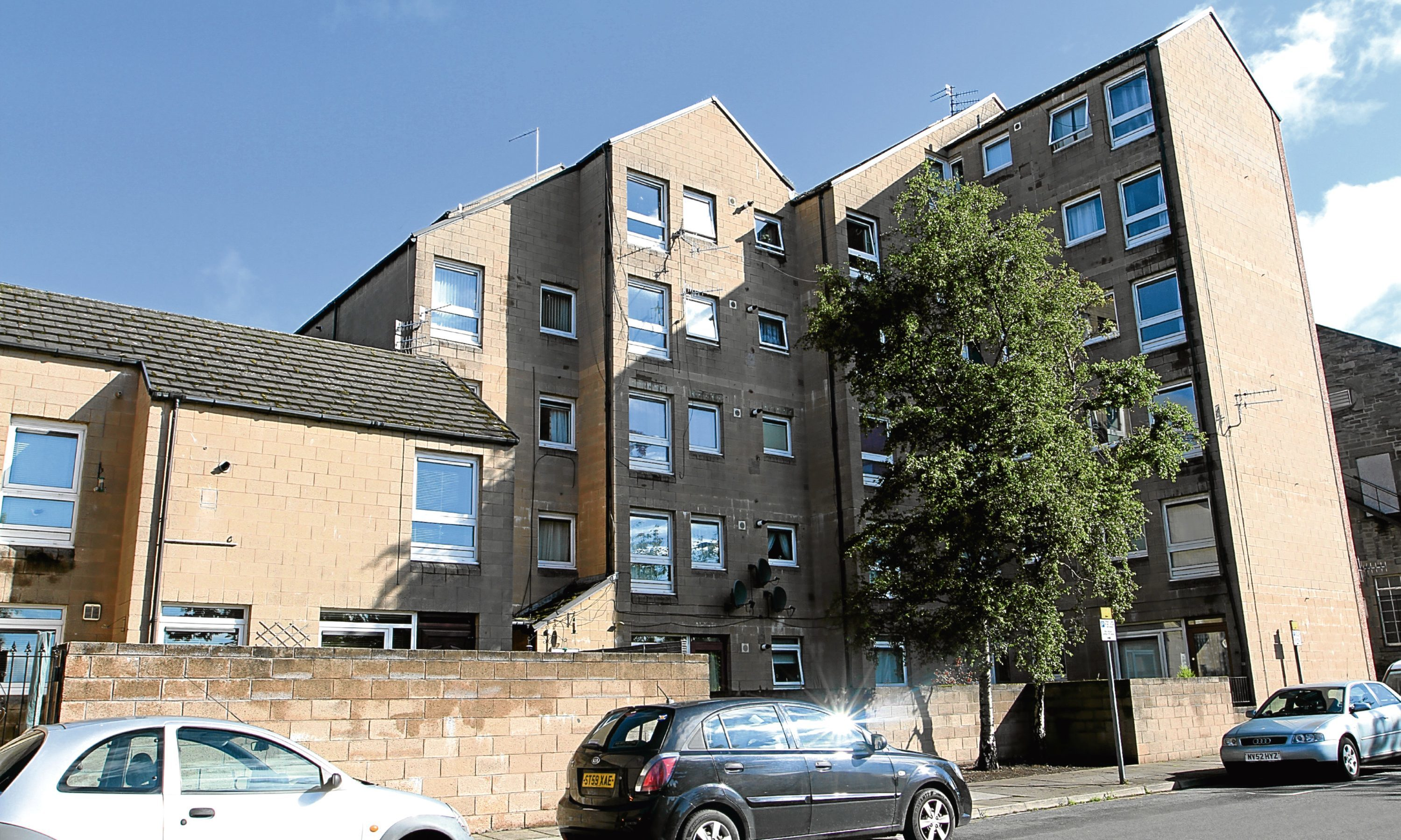 The sheltered housing complex on Craigie Street.