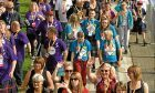 Participants at the 2017 Dundee Kiltwalk