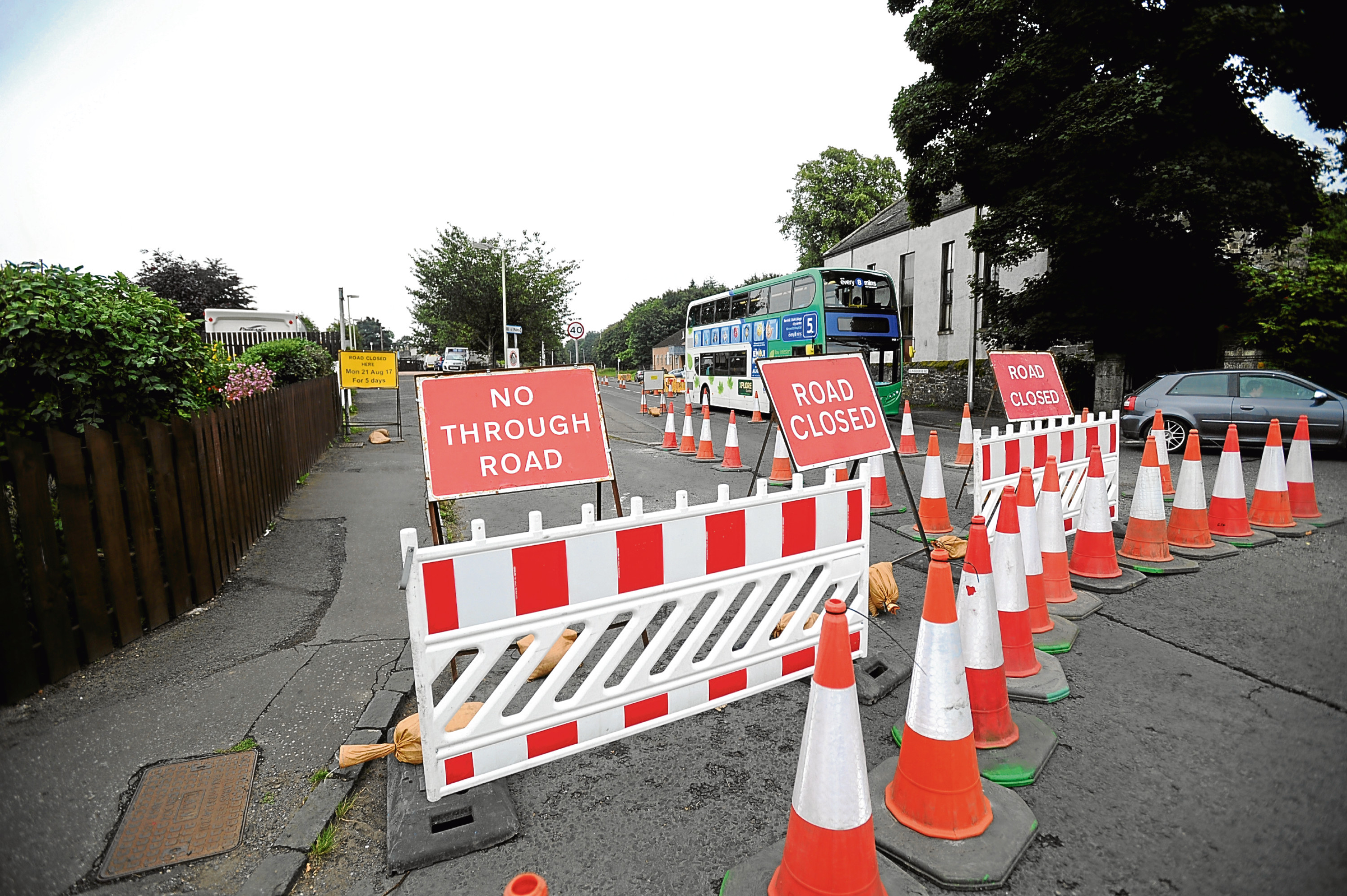 Claverhouse Road has been closed while SGN undertakes work to connect a property to the gas network.