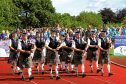 Pipers lead the way at the event.