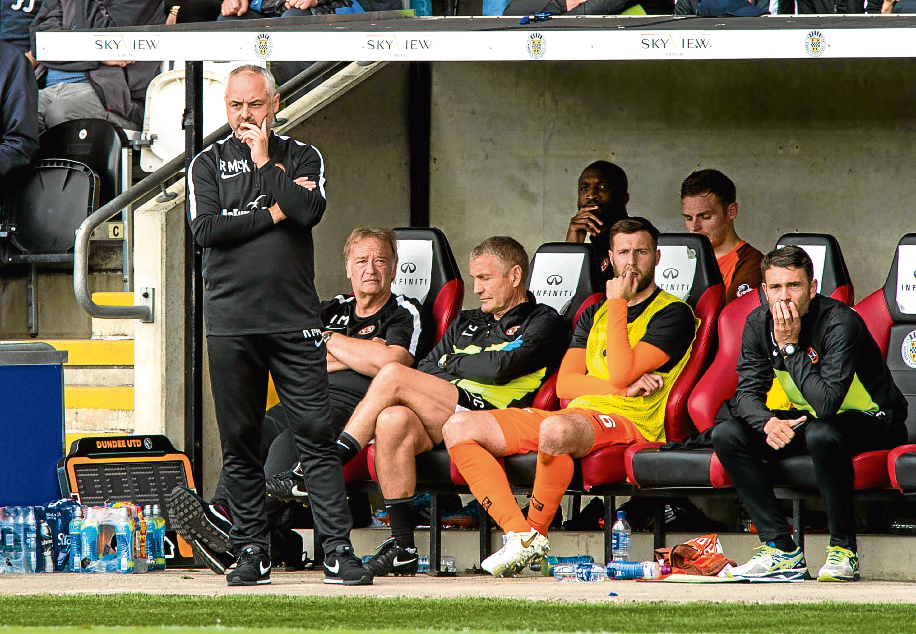 Dundee United manager Ray McKinnon was not impressed by his side's showing.